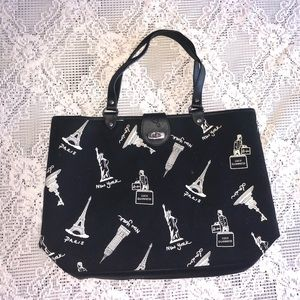 LuLu Guinness- black and white tote
